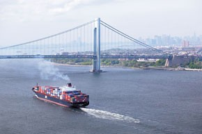 The bulk of ship emissions occur within 250 miles of land.