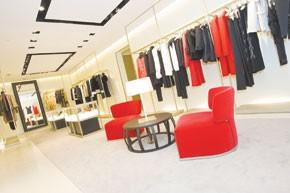 Views of Valentino's Hong Kong flagship.