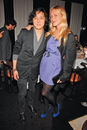 Benjamin Cho with Chloe Sevigny in Narciso Rodriguez.