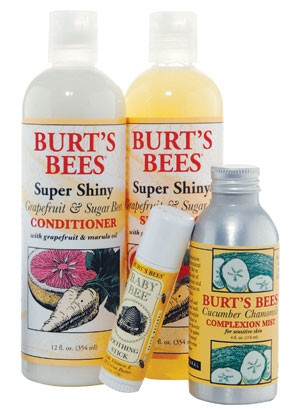 An assortment of Burt's Bees products.
