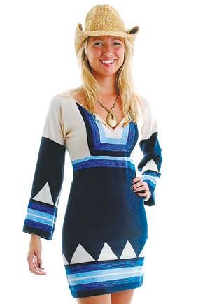 Scoop Beach's retro sweater dress.