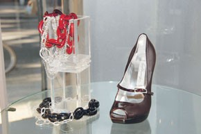 Shoes and jewelry from Diana Broussard's fall collection.