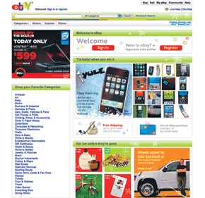 Over several days, eBay has seen a rise in sales across all categories.