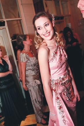 Tatiana Mountbatten in Christian Dior Couture.