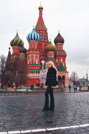 Donatella Versace in Moscow.