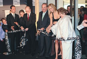From left: Carlos Slim Helu's son, Carlos, president of Grupo Carso; Carlos Hajj, David Pilnick, senior vice president, Saks Intl.; Carlos Slim Helu; model Petra Nemcova, a friend of the family, and Donna Tallon, vice president and general merchandise...
