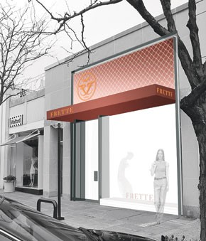 A rendering of Frette's new boutique at the Americana Manhasset Mall.