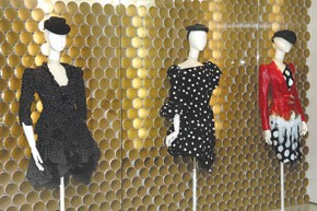 Some 80 Christian Lacroix dresses are on display...