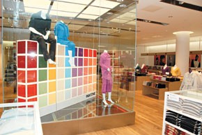 Inside the London stores.