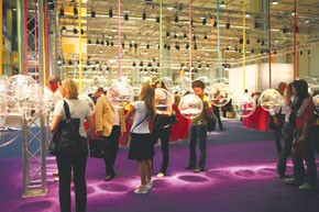 The show floor of Moda In at Milano Unica.