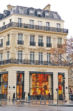 Cartier opened a new concept store in 2002.