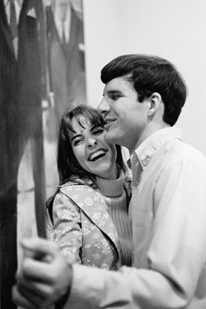 A young Steve Martin dances with a former girlfriend.