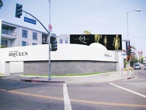 The Alexander McQueen space in Los Angeles.