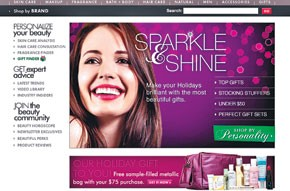 Beauty.com's homepage.