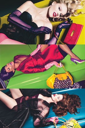 Louis Vuitton's spring ad campaign features models on top of cars.