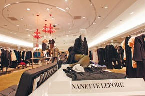 The Nanette Lepore display at Lord & Taylor in Scarsdale, N.Y.