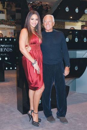 Beyonce Knowles and Giorgio Armani