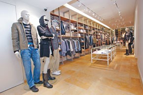 The renovated Fifth Avenue Gant flagship.