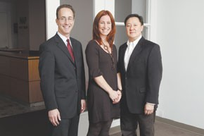 Mark Sandler and Colleen Cotter of O'Bryan Bros. with NAP's Victor Lee.