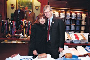 Marlo Thomas and Claudio Del Vecchio, chairman and chief executive of Brooks Brothers.