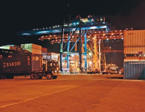 Container traffic fell for the fourth month in November.