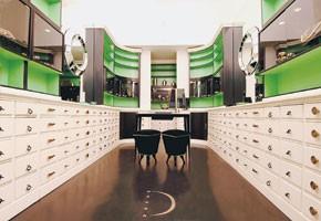 Inside Delfina Fendi's first store.