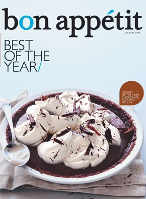 Bon Appetit's January 2008 issue cover.