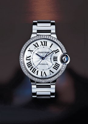 Best-selling high-end watches include Cartier...