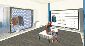 A rendering of the new Rome boutique.
