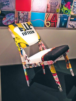 Paul Smith created chairs for Elle.
