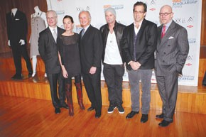 The YMA Fashion Scholarship Fund roundtable (from left): Tim Gunn, Cynthia Rowley, Rick Leto, Marvin Scott Jarrett, Kenneth Cole and Michael Fink.