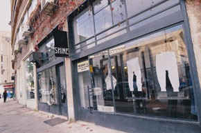 Shine, owned by designer Alice Dahan, favors a monochromatic theme.