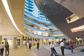 Unitim-licensed stores make up 25 percent of the Kanyon mall.