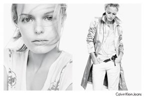 Calvin Klein's latest ads featuring Kate Bosworth.