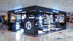 Giorgio Armani's boutique in Hong Kong International Airport.