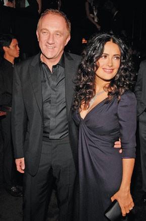 Francois-Henri Pinault with Salma Hayek in Gucci.