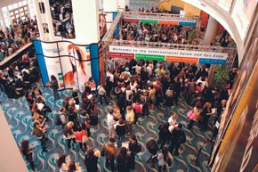 A view of the ISSE show floor.
