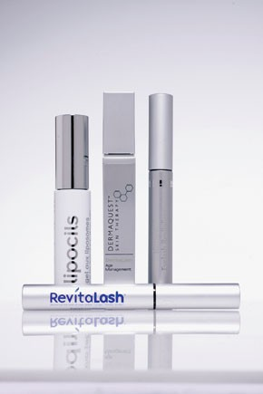 A selection of products that promote eyelash growth.