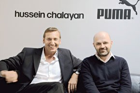 Puma chairman and ceo Jochen Zeitz and Hussein Chalayan.