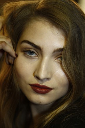 Backstage beauty at Issa
