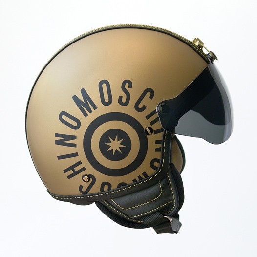 Moschino helmet.