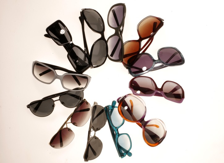 Clockwise from far left: Moscot, Chris Benz for Proenza Schouler, DVB, Banana Republic, Karl Lagerfeld, Tiffany, Lucky Brand Spectacles, Theory, Fabien Baron, Chaiken by Linda Farrow Vintage, Emilio Pucci and Balenciaga.