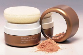 One of Bare Escentuals' latest product lines, RareMinerals night treatment.