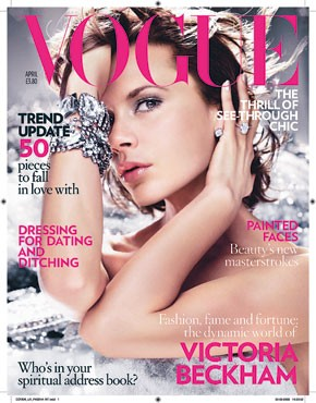 Victoria Beckham on the cover of British Vogue.
