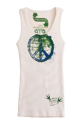 A tank from the Guess Green capsule collection.