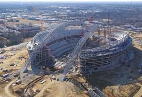 The Dallas Cowboys' stadium under construction.