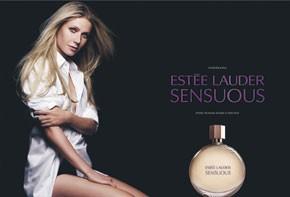 An ad visual for Estee Lauder's Sensuous.