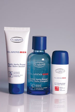 Clarins' new items for men.