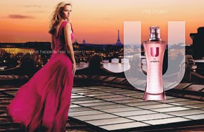 Reese Witherspoon in the U by Ungaro for Her fragrance ad.
