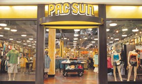 Pacific Sunwear's quarterly profit dropped 42.3 percent.